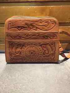 Vintage Mexican embossed leather purse
