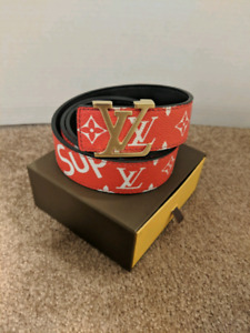 Red LV x Supreme Belt