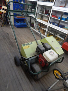 lawn aerator and other misc lawn equipment for sale at the 689r