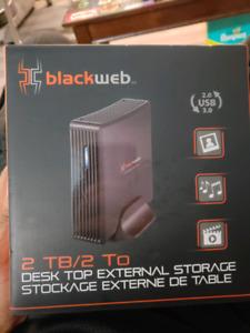 Un opened. External hard drive.