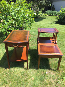 3 Wood End Tables (50+ years old)