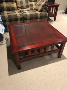 Custom made coffee and end tables - solid wood
