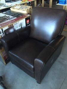 Leather push back recliners