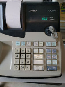 Casio 260 used cash register, excellent working, manual,keys,rol