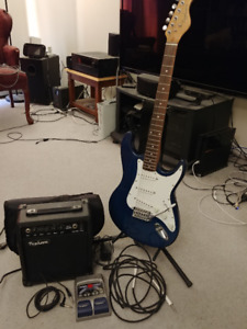 Beginner Typhoon Electric Guitar + Amp + FX Pedal (BUNDLE SET)