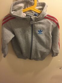 Baby Adidas hoodie with Crest hood
