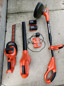 Black & Decker 18v Cordless tools (Blower Trimmer and whacker )