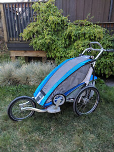Lightly used THULE CHARIOT CX1 Stroller with attachments