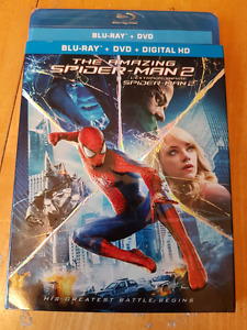 The Amazing Spider Man 2 Unopened Blue Ray DVD and digital copy