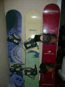 Snowboard with bindings for sale (adult boards)