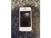 White I phone 4
