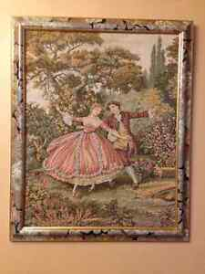 Tapestry - Gentleman and Lady Dancing