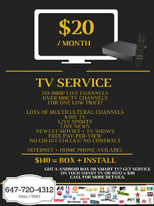 NEED CABLE ? Over 1000 HD 1080 channels only $20/month