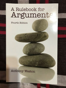 A Rulebook for Arguments (4th Edition)