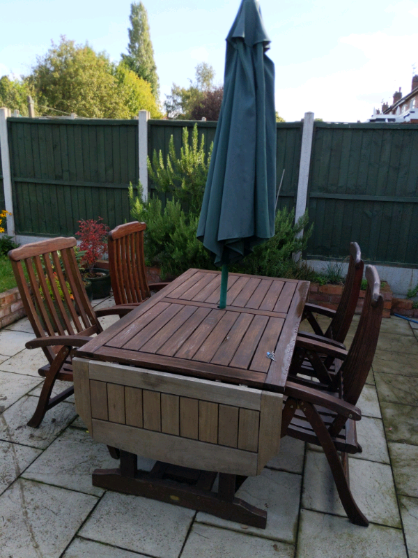 Wooden garden table and chairs set | in Leicester ...