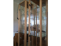 2 tall slim beach display cabinets