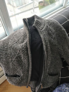 double lined polyester coat/sweater, pick up downtown vancouver