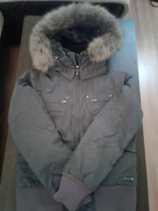 TNA Winter Jacket Used Grey Ladies Medium fits Small