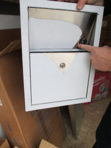 Bradley recessed mount, sanitary napkin disposal. Heavy duty 22