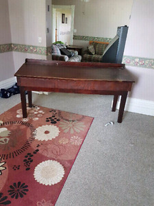 Antique walnut drafting table
