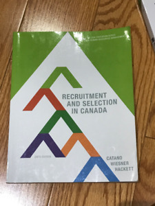 Recruitment and Selection in Canada 6 Edition