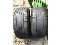 Bridgestone Potenza 245/45/18 part worn 4mm premium tyres
