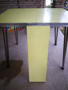 Yellow 1950's Kitchen Table with Insert