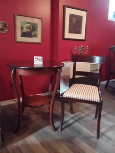 Table and chair antique