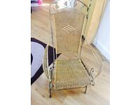 Metal framed sea grass conservatory rocking chair