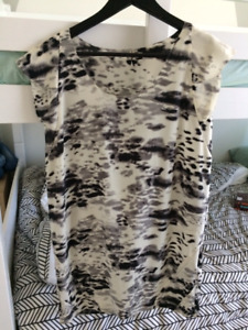 IRO Paris black & white printed dress