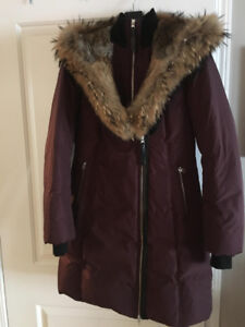 Mackage Jacket - Trish fitted down jacket in Bordeaux (Size Med)