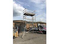 Used aluminium scaffold tower