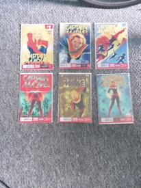 6 Captain Marvel comics