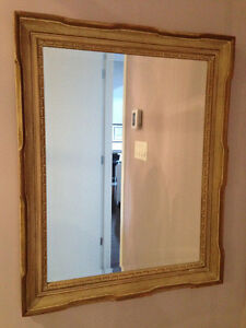 Bevelled Mirror in wood frame
