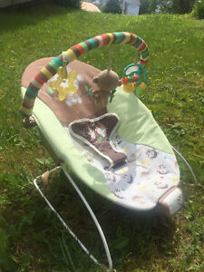 Baby vibrating chair with music