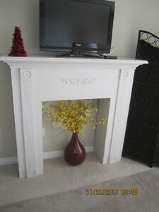 Large Snow White Faux Fireplace