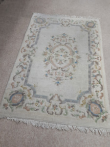 White rug, carpet 4' x 6' - $50