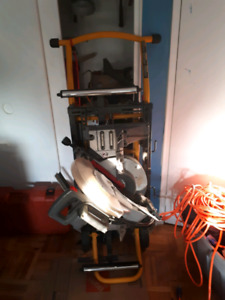 Dewalt Miter/chop saw with pneumatic stand