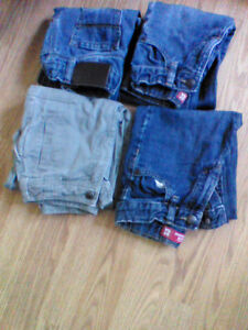 Size 5 boys pants- 4 for $10.00