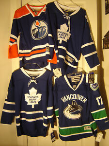 3 BRAND NEW YOUTH NHL JERSEYS FULLY STITCHED ALL UNDER $45.00!!