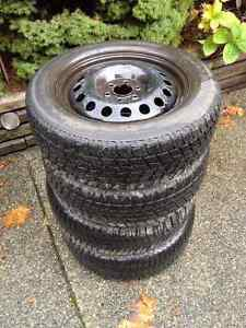 4 winter tires on wheels from 2007 Pontiac Montana
