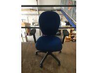 Blue Torasen office swivel chair.