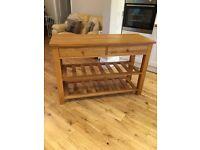 Oak sideboard occasional table