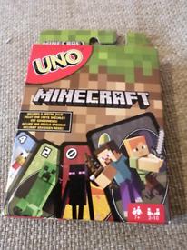 BNIB Minecraft uno card game