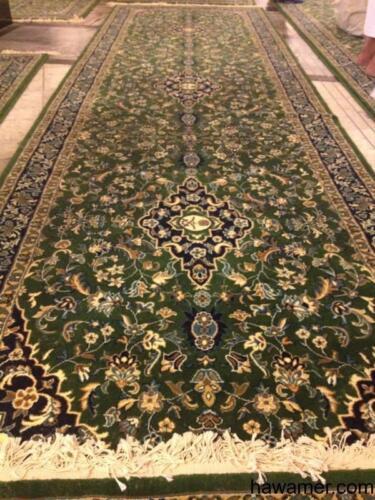 Muslim carpet rug from Mecca Makkah Al Mukarramah From around the Kaaba Makah