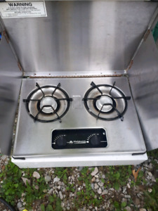 Propane stove for camper trailer or camping
