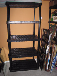 Clearing out! Thick Plastic 5 Tier Shelf