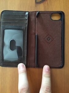 Leather iPhone case holder
