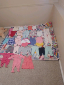 0-3 and 3-6 month girls clothes
