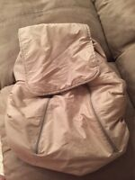 Hand made car seat cover-shower cap style